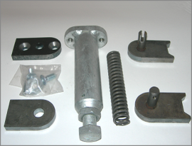 self closing gate hinge assembly for wall plates