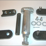 Self closing steel gate hinge assembly kits